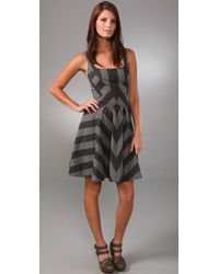 Marc By Marc Jacobs | Black Jailbird Stripe Dress | Lyst