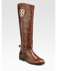 Tory Burch | Brown Patterson Riding Boots | Lyst