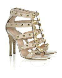 Giuseppe Zanotti | Natural Studded Leather Gladiator Sandals | Lyst