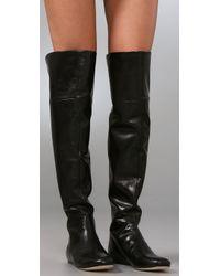 Vera Wang Lavender | Black Larissa Over The Knee Boots | Lyst