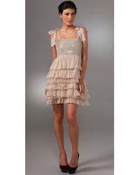 Alice + Olivia   Natural Marianna Rhinestone Dress   Lyst
