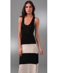 Karina Grimaldi - Natural Biscot Long Tank Dress - Lyst