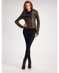Mackage - Black Asymmetric Leather Jacket - Lyst