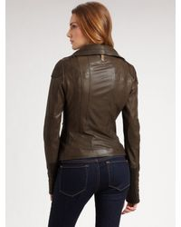 Mackage - Black Asymmetric Leather Jacket - Lyst