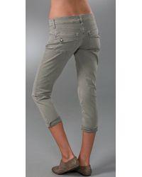 PAIGE - Green Venice Crop Pants - Lyst