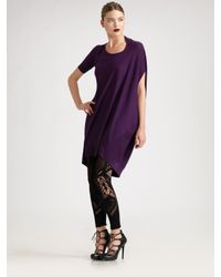 Alexander McQueen | Purple Footless Lace Tights | Lyst