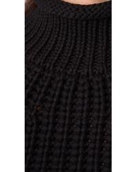 Alexander Wang - Black Cropped Mock Neck Tank - Lyst