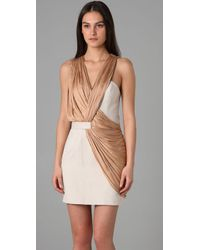 Alexander Wang | White Draped Tailored Dress | Lyst