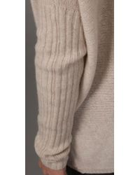 BCBGMAXAZRIA - Natural Oversized V Neck Sweater - Lyst