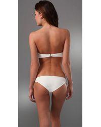 Cali Dreaming - White The Twist Front Bandeau Classic Bikini - Lyst