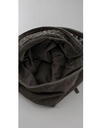 Motif 56 - Gray Suede Meduza Bag - Lyst