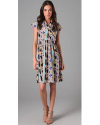 Tucker | Brown Cross Front Flowy Dress | Lyst
