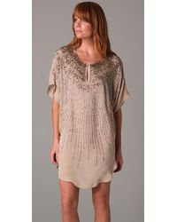 Twelfth Street Cynthia Vincent - Natural Sunburst Beaded Tunic Dress - Lyst