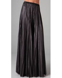 A.L.C. | Black Long Pleated Skirt | Lyst