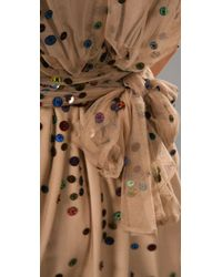 Chris Benz | Natural Garden Dress with Sash | Lyst