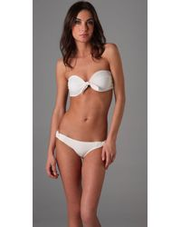 L*Space | White Sunkissed Bandeau Bikini Top | Lyst