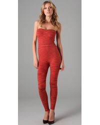 M Missoni | Red Space Dye Knit Jumpsuit | Lyst