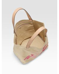 Anya Hindmarch - Natural Small Canvas Ballet Tote - Lyst
