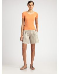 Armani | Orange Featherweight Jersey Tee | Lyst