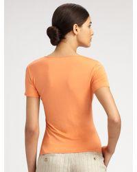 Armani | Orange Featherweight Jersey Tee | Lyst