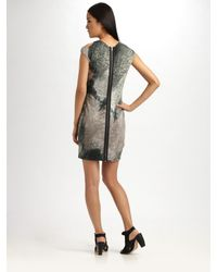 Cut25 by Yigal Azrouël | Gray Decay-print Dress | Lyst