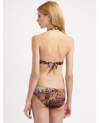 Jean Paul Gaultier - Pink Two-piece Palm Tree-print Bikini - Lyst