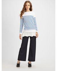 Junya Watanabe | Blue Cropped Sailor Pants | Lyst