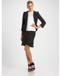 Nanette Lepore | Black Wizard Tweed Jacket | Lyst