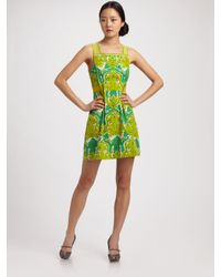 Nanette Lepore | Natural Dreamland Pintucked Printed Dress | Lyst