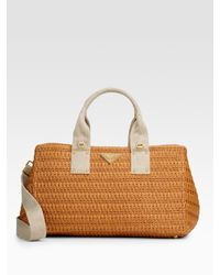 Prada | Natural Straw Tote | Lyst