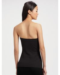 T By Alexander Wang - Black Stretch-cotton Tube Top - Lyst