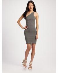 T By Alexander Wang | Green One-shoulder Jersey Dress | Lyst