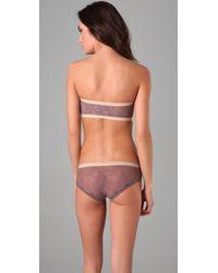 Calvin Klein | Purple Luxe Bandeau | Lyst