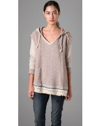 Free People | Natural Bonfire Baja Hoodie | Lyst