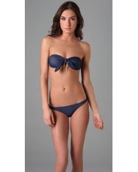 Thayer | Blue Chain Tie Bikini | Lyst