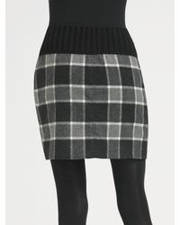 Theory - Gray Kalima Plaid Skirt - Lyst