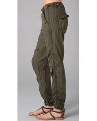Free People - Green Benjis Utility Pants - Lyst