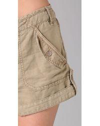 Free People | Natural Benjis Cargo Shorts | Lyst
