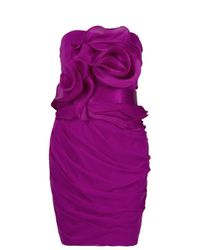 Notte by Marchesa - Purple Pleated Ruffle Dress - Lyst
