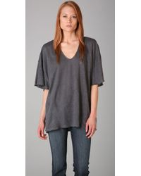 Tigerlily | Gray Lahar Oversized Draped Tee | Lyst