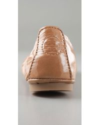 Tory Burch - Brown Eddie Patent Leather Ballet Flats - Lyst