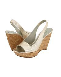 Jil Sander | White Peep Toe Wedge Sandal | Lyst
