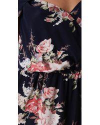 Joie - Blue Sari Floral Silk Dress - Lyst