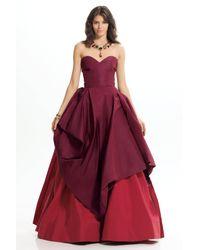 Oscar de la Renta | Red Sweetheart Neckline Gown | Lyst