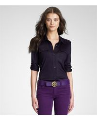 Tory Burch | Blue Edie Blouse | Lyst