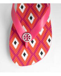 Tory Burch - Pink Flip Flop - Lyst