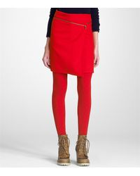 Tory Burch | Red Rosin Skirt | Lyst
