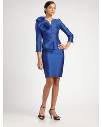 Armani | Blue Cotton/silk Pencil Skirt | Lyst