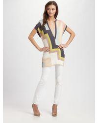 M Missoni | Black Intarsia Knit Tunic Top | Lyst