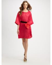 Marc Jacobs   Pink Flower-belt Tunic Dress   Lyst